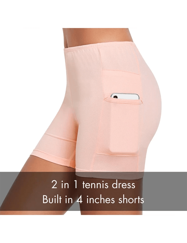 female upf50+ 2-in-1 sleeveless pocketed tennis skorts age group adult Clothing baleaf