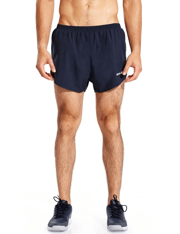 male 3'' 2-in-1 high cut mesh split-leg basic running shorts age group adult Clothing baleaf Navy S