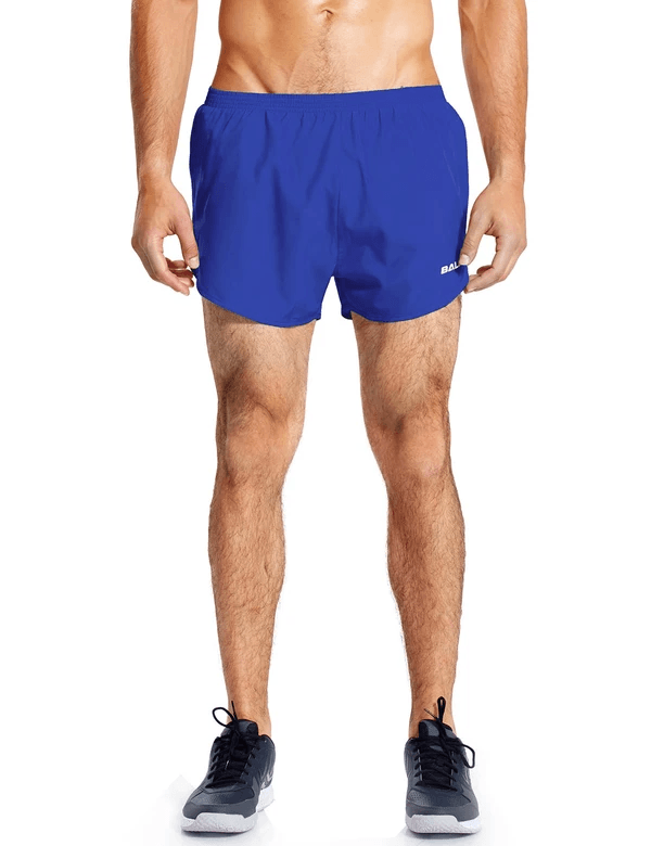 male 3'' 2-in-1 high cut mesh split-leg basic running shorts age group adult Clothing baleaf Royal Blue S