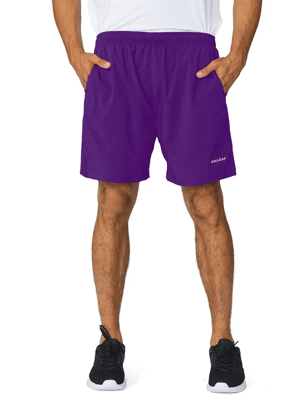 male 5'' light-weight quick dry fully lined shorts age group adult Clothing baleaf Purple S
