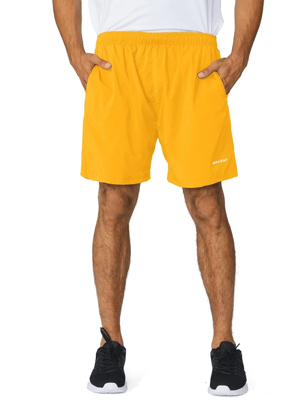 male 5'' light-weight quick dry fully lined shorts age group adult Clothing baleaf Yellow S