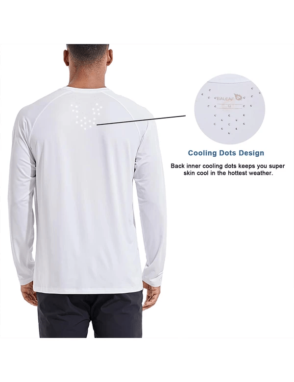 male evo upf 50+ quick dry raglan casual long sleeved shirt age group adult Clothing baleaf