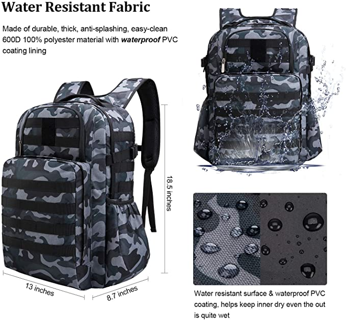 male taibid military tactical backpack water resistant large army 3 day assault pack outdoors age group adult Bag Taibid