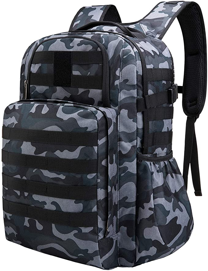 male taibid military tactical backpack water resistant large army 3 day assault pack outdoors age group adult Bag Taibid Black Camo