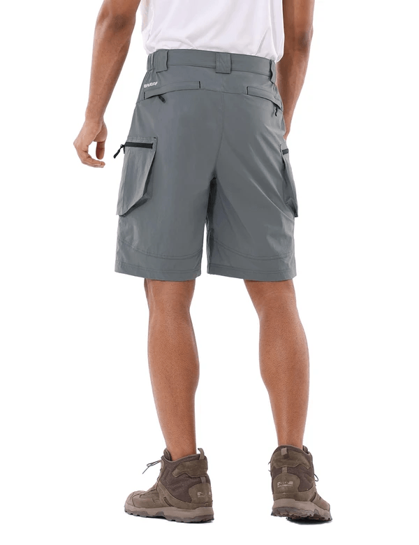 male upf 50+ water resistant multipocketed cargo shorts age group adult Clothing baleaf