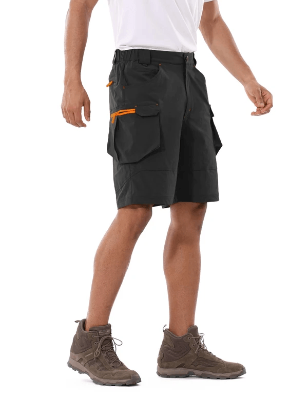 male upf 50+ water resistant multipocketed cargo shorts age group adult Clothing baleaf Black S