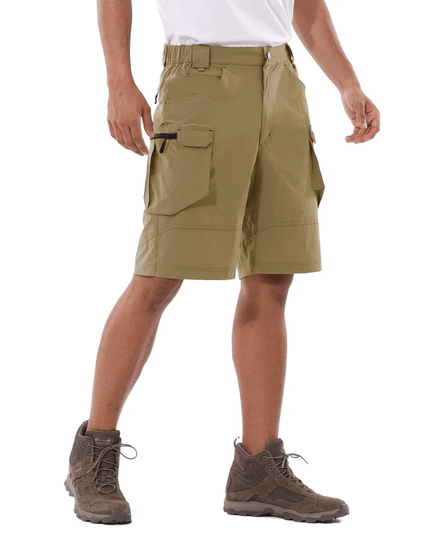 male upf 50+ water resistant multipocketed cargo shorts age group adult Clothing baleaf Yellow Ochre S