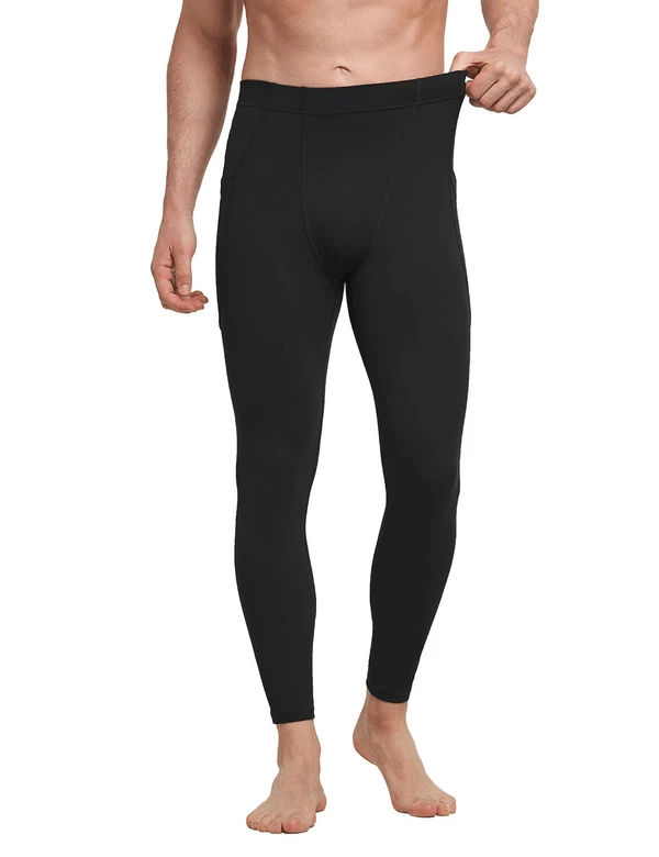 Mid-Rise Side Pocketed Gym & Yoga Compression Tights Clothing Lightones Black S