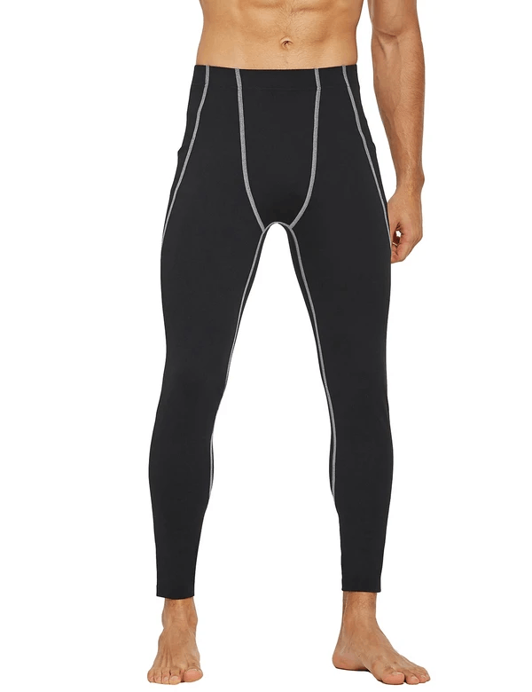 Mid-Rise Side Pocketed Gym & Yoga Compression Tights Clothing Lightones Black/White S