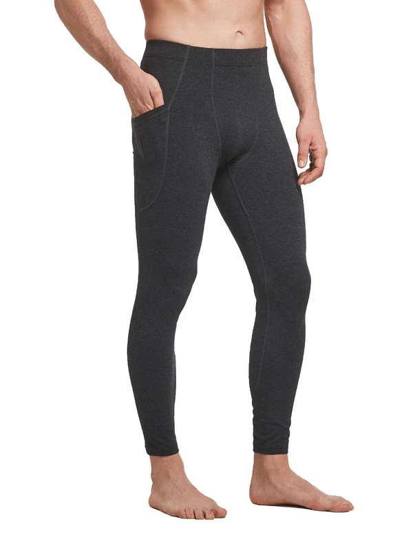 Mid-Rise Side Pocketed Gym & Yoga Compression Tights Clothing Lightones Charcoal S