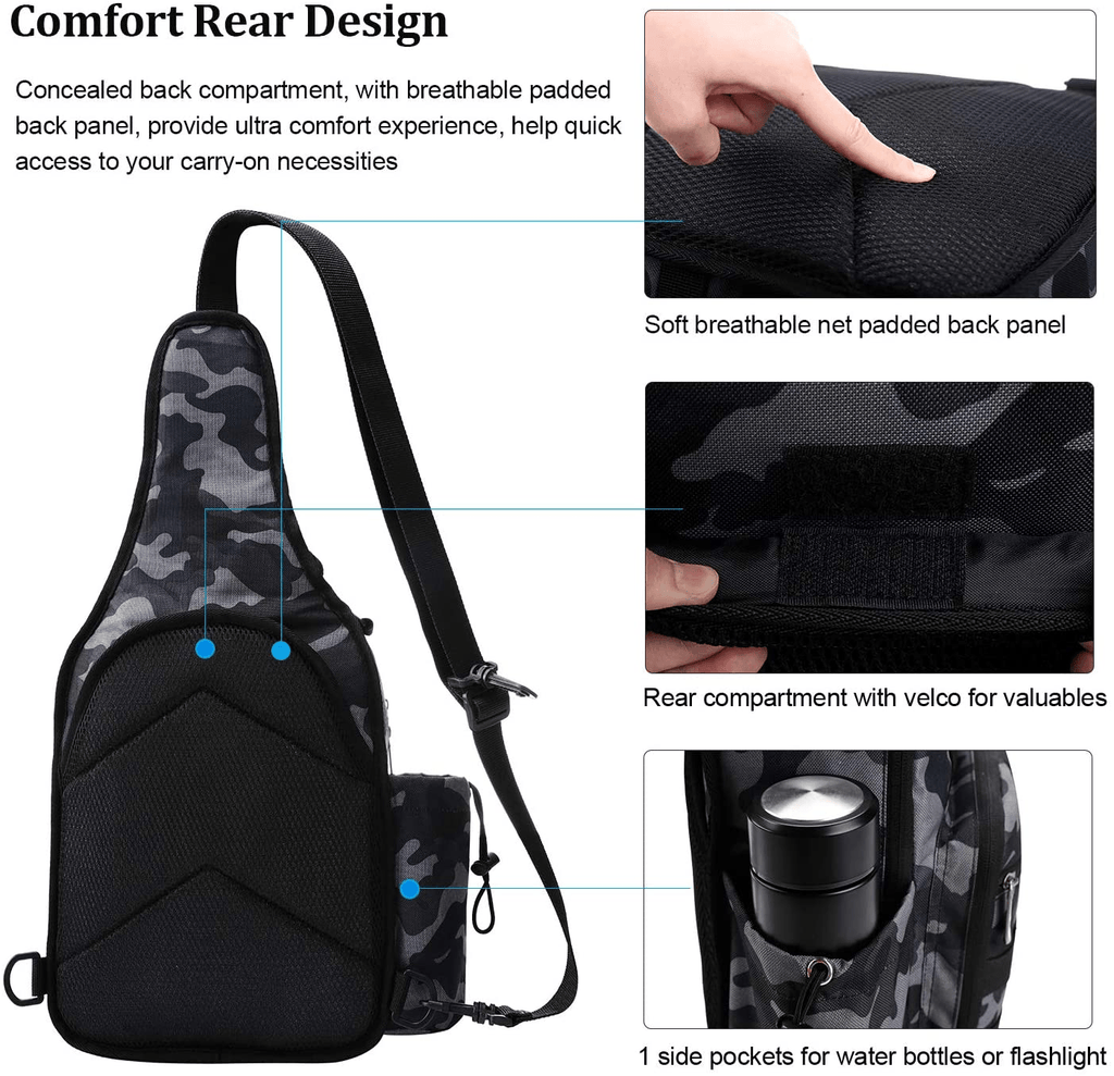 taibid waterproof sports single shoulder fishing tackle bag backpack or handbag crossbody messenger sling bags for camping hiking cycling outdoors sport age group adult Bag Taibid