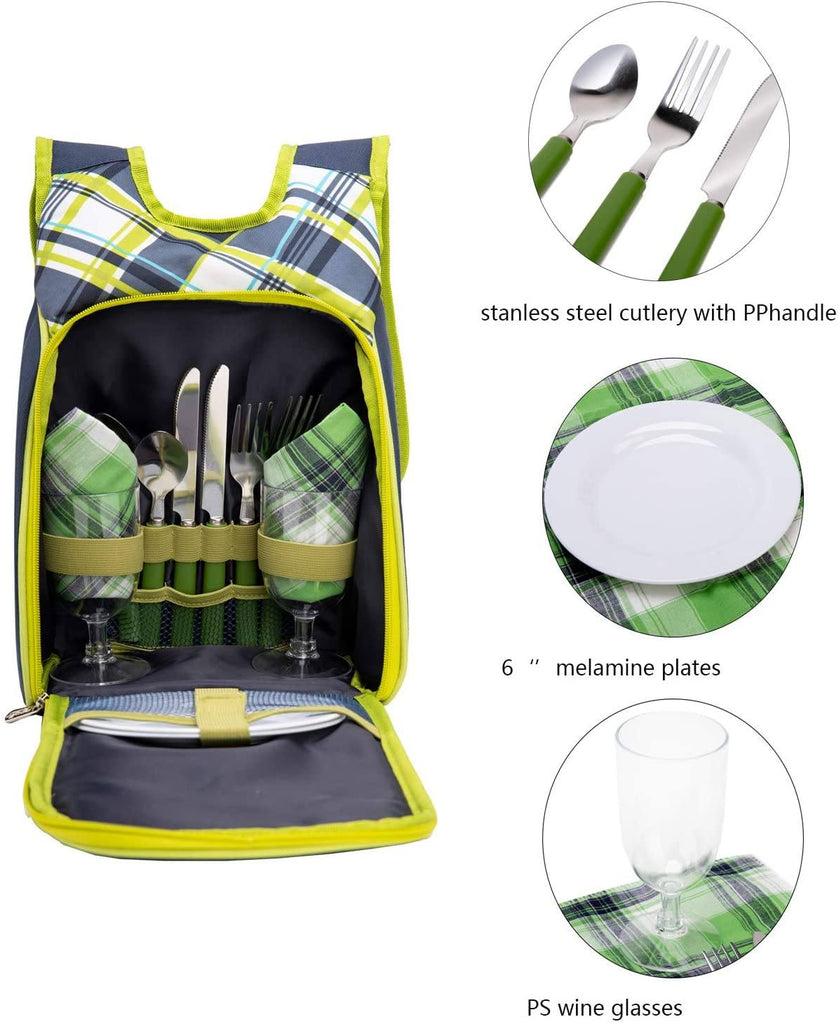 unisex apollowalker picnic backpack for 2 person set pack lightweight for outdoor camping portable age group adult Bag baleaf