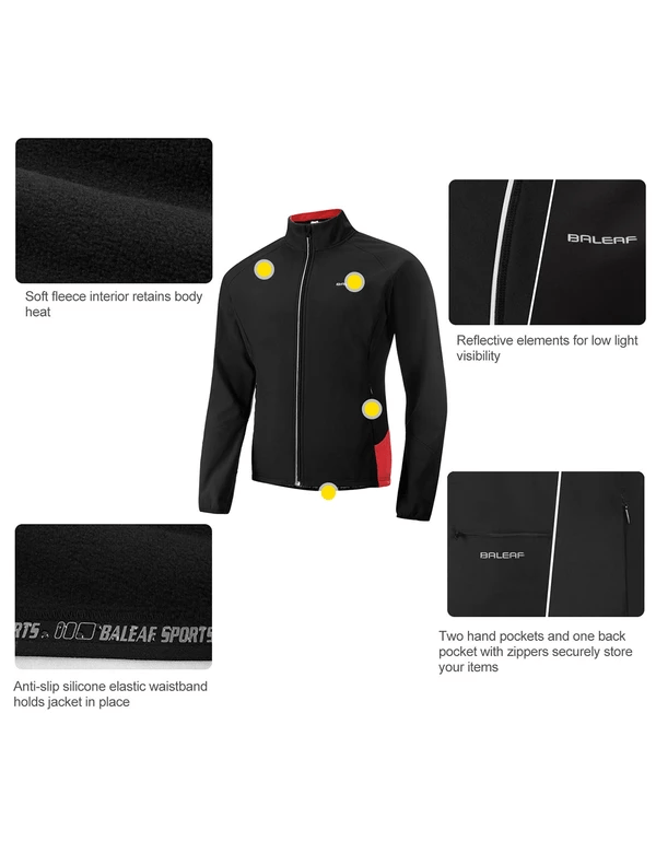 unisex fleece lined wind- & waterproof collared thermal track jacket age group adult LightoneSport