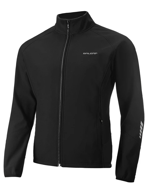 unisex fleece lined wind- & waterproof collared thermal track jacket age group adult LightoneSport Black S