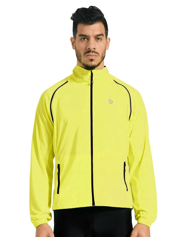 unisex fluorescent detachable sleeves windbreaker track jacket age group adult Clothing LightoneSport Fluorescent Yellow S