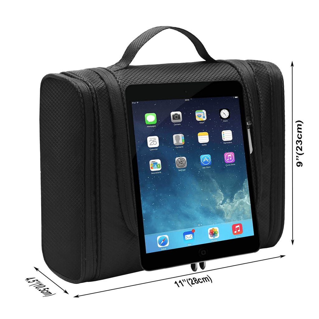 unisex taibid large hanging travel toiletry bag for men and women waterproof makeup organizer bags wash bag shaving kit cosmetic bag for accessories, shampoo,bathroom shower, personal items black age group adult Bag baleaf Black