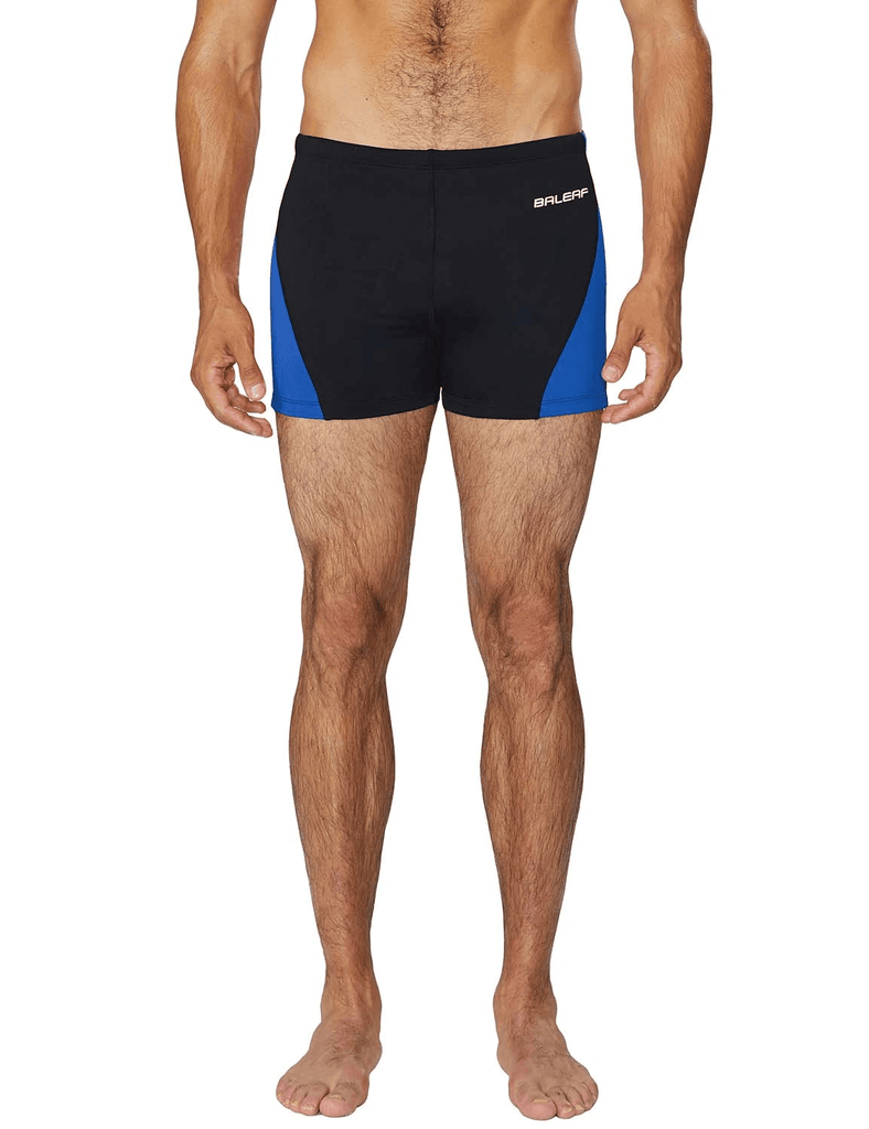 unisex upf50+ durable skin tight compression swim trunks age group adult Clothing Lightones Black/Blue XS