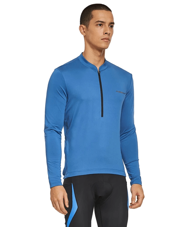 unisex upf50+ half zip long sleeved back pouched cycling top age group adult Clothing Lightones