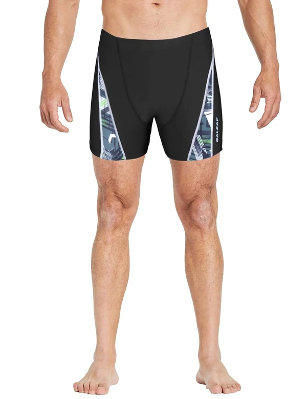 unisex upf50+ high-cut compression swim shorts age group adult Clothing Lightones Black XS