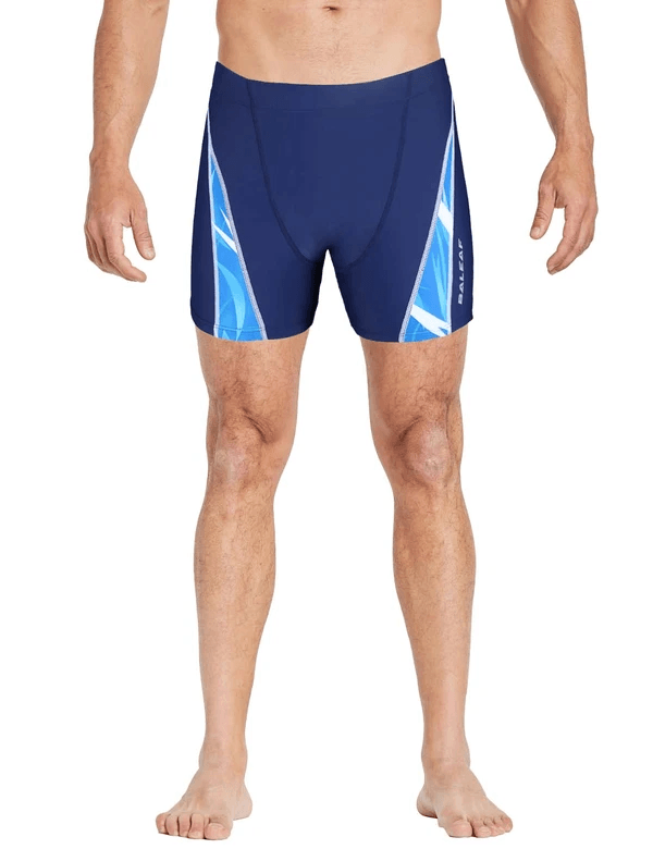 unisex upf50+ high-cut compression swim shorts age group adult Clothing Lightones Navy XS