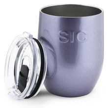 Load image into Gallery viewer, 16 Oz. Stemless Wine Ultraviolet Glitter
