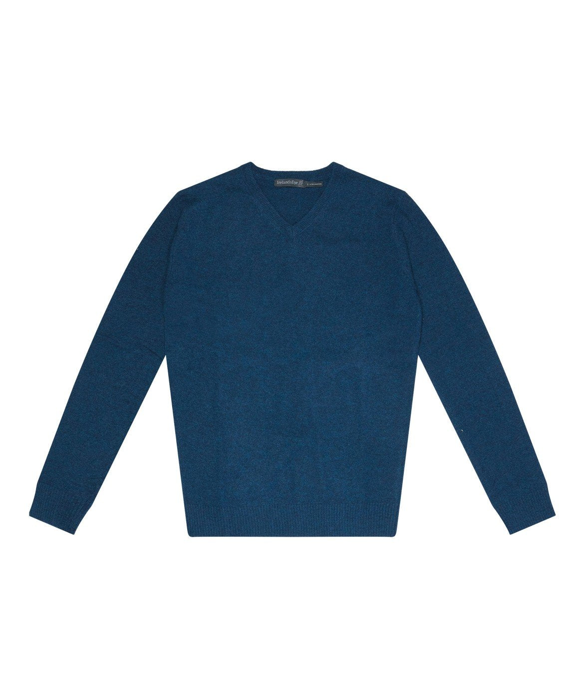 Easy Care V Neck Wool Sweater Lagoon-Blue