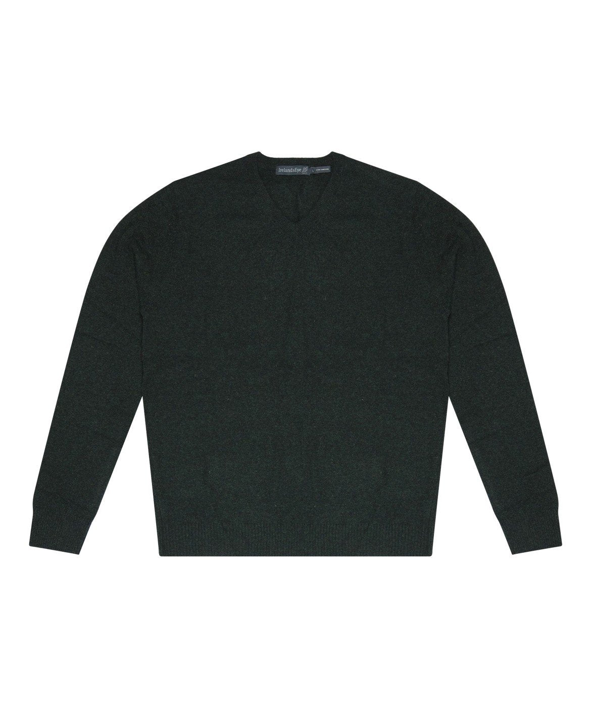 Easy Care V Neck Wool Sweater Night-Forest