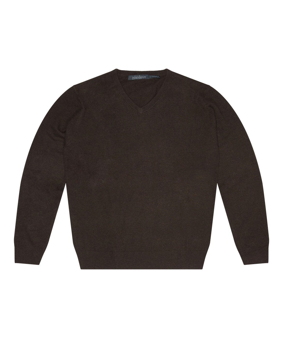 Easy Care V Neck Wool Sweater Turf