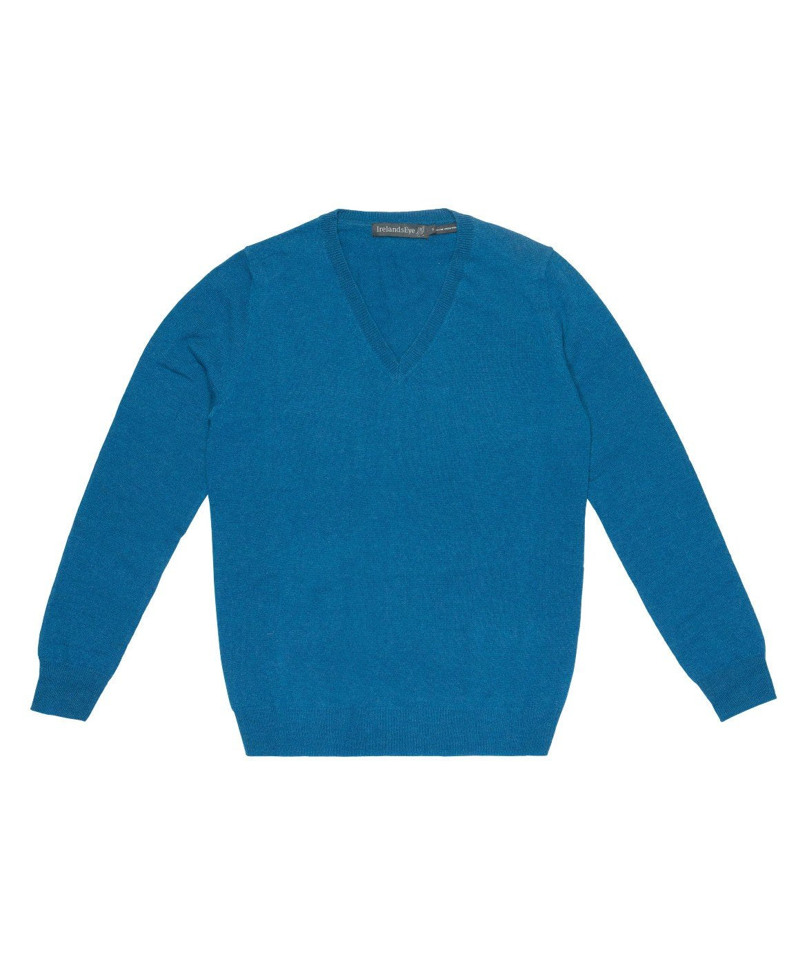 Women's Luxe Touch Wool V Neck Sweater Ocean-Teal