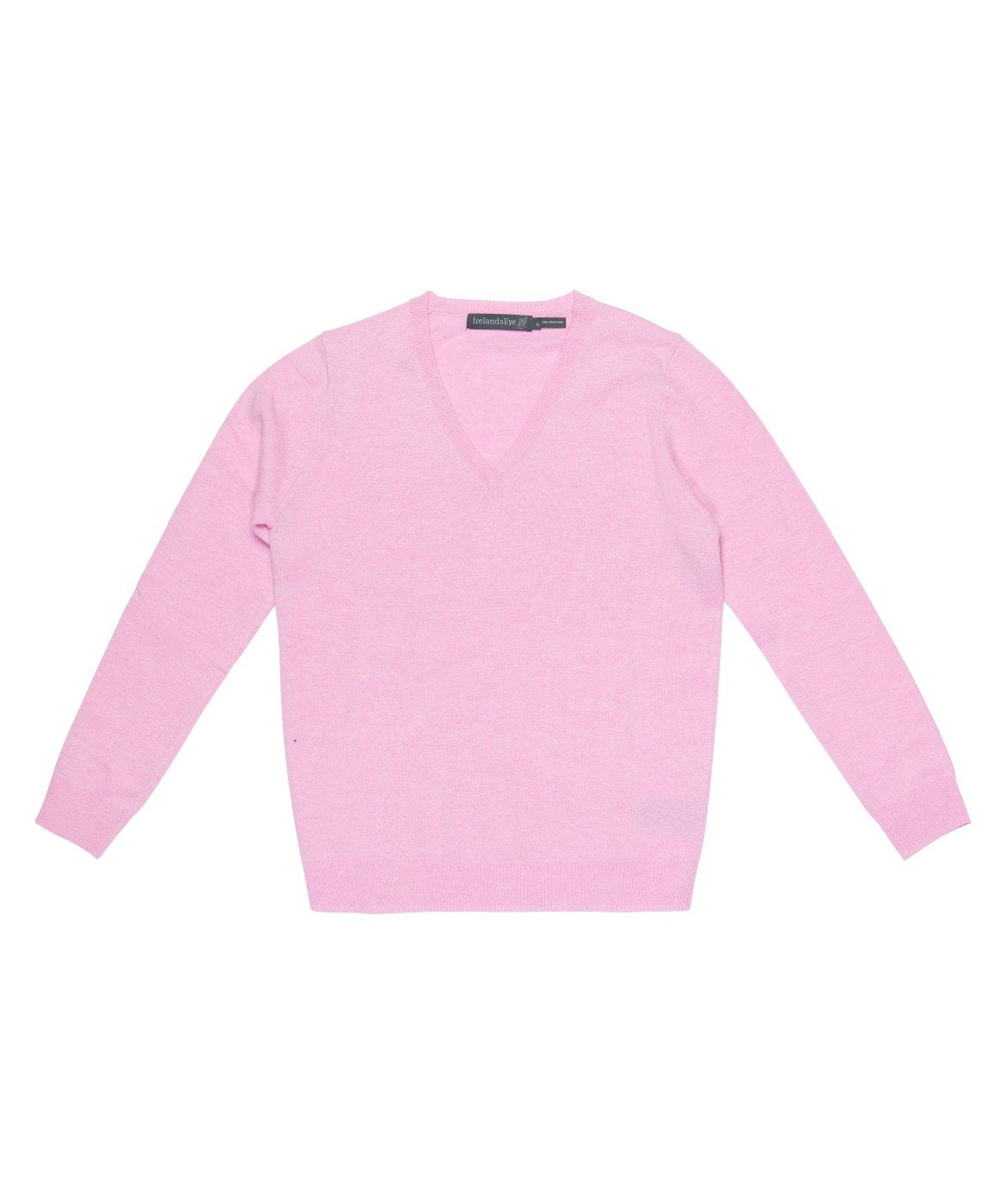Women's Luxe Touch Wool V Neck Sweater Pink-Sunset