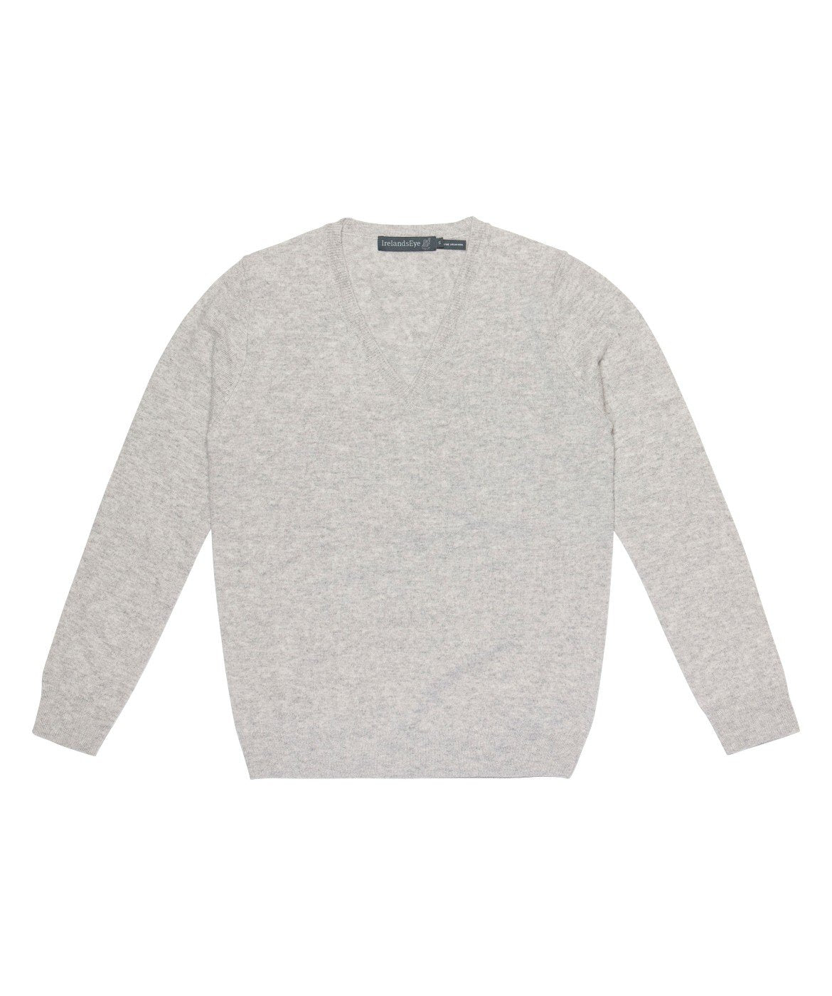 Women's Luxe Touch Wool V Neck Sweater Silver-SeaSpray