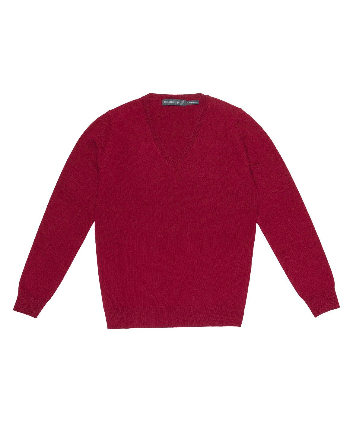Women's Luxe Touch Wool V Neck Sweater Venetian-Red