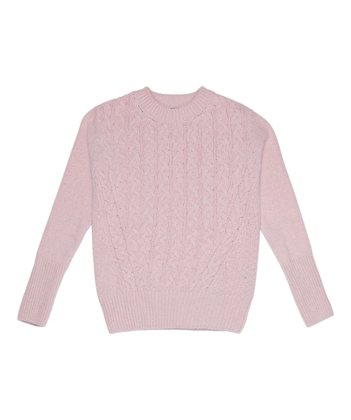 Women's Kilcrea Cable Round Neck Sweater Pink-Mist
