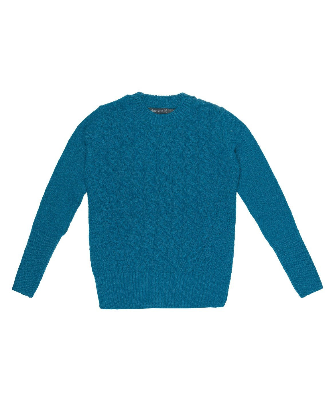 Women's Kilcrea Cable Round Neck Sweater Teal-Harbour