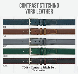 York Leather with Contrast Stitching
