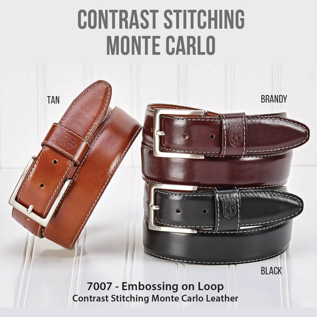 Monte Carlo Leather with Contrast Stitching