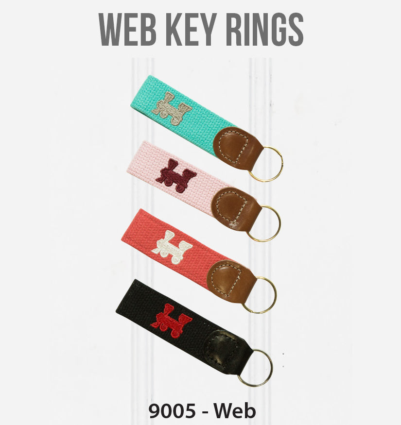 Embroidered Web Key Rings