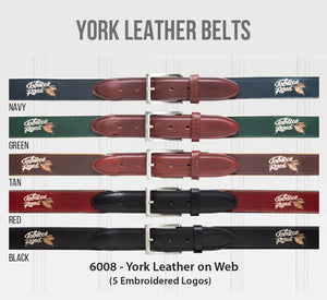 Embroidered York Leather Belts