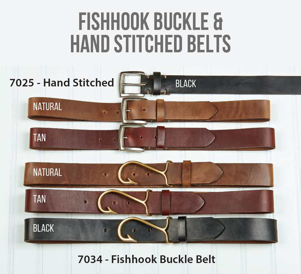 Fishhook Buckle & Hand Stitched Belts