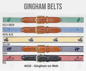 Embroidered Gingham Belts