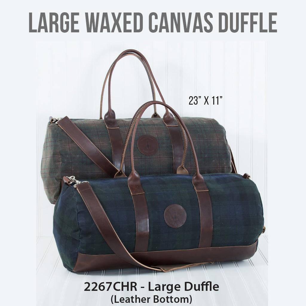 Large Waxed Canvas Duffle