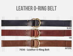 Leather O-Ring Belt