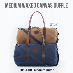 Medium Waxed Canvas Duffle