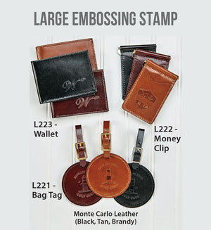 Large Embossing Stamp on Leather Goods