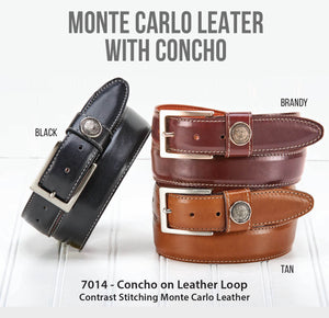 Concho on Leather Loop