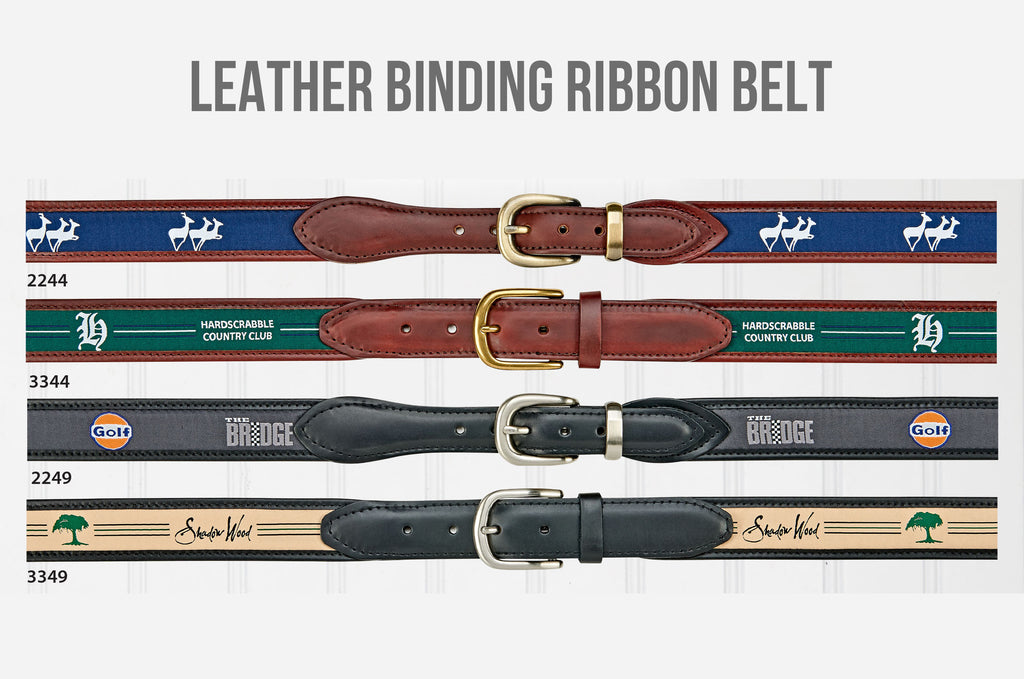 Leather Binding Ribbon Belt