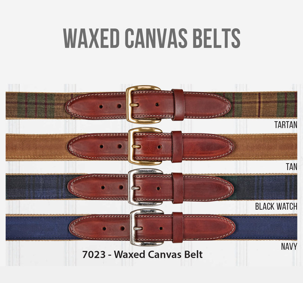 Waxed Canvas Belts