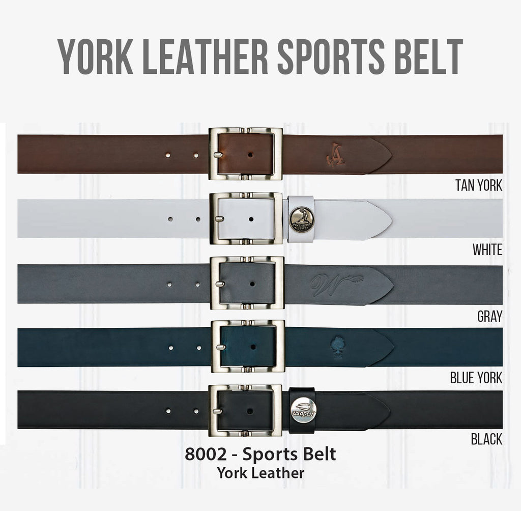 York Leather Sports Belt