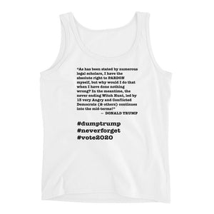 Witch Hunt Trump Quote Ladies' Tank