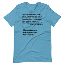 Load image into Gallery viewer, Ballots Trump Quote Short-Sleeve Unisex T-Shirt